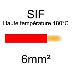 fil cuivre souple isolé silicone 6mm2 rouge
