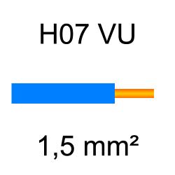 fil de câblage cuivre rigide H07VU 1.5mm² bleu