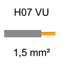 fil de câblage cuivre rigide H07VU 1.5mm² gris