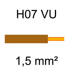 fil de câblage cuivre rigide H07VU 1.5mm² marron brun
