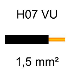 fil de câblage cuivre rigide H07VU 1.5mm² noir