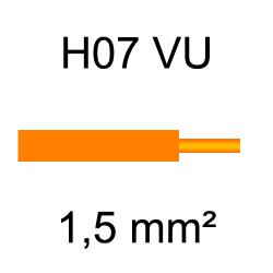 fil de câblage cuivre rigide H07VU 1.5mm² orange