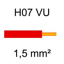 fil de câblage cuivre rigide H07VU 1.5mm² rouge