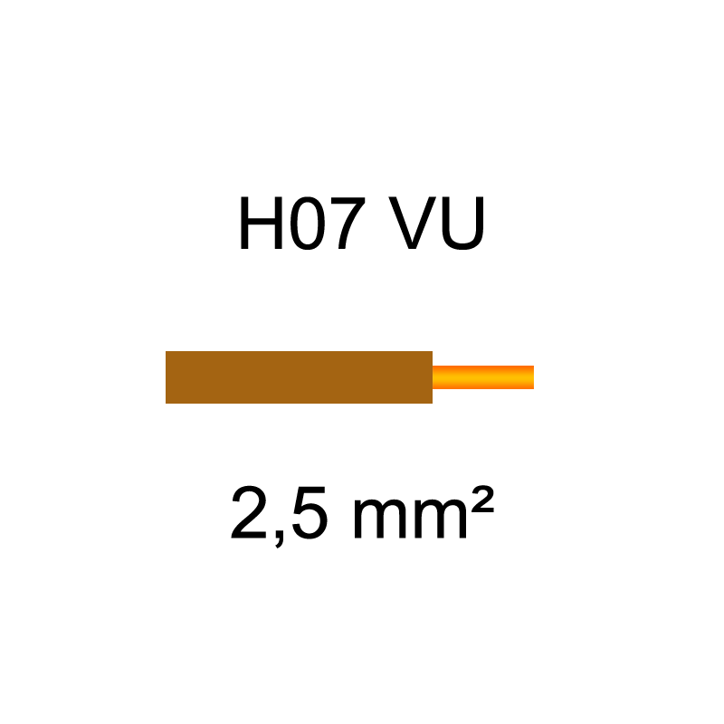 Fil électrique H07VU cuivre rigide | 1.5mm² et 2.5mm²