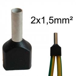 embout de câblage double 2x1.5mm²