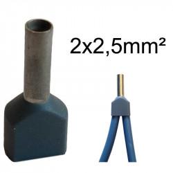 embout de câblage double 2x2.5mm²