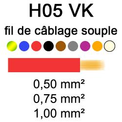 Fil électrique H05VK cuivre...