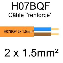 câble cuivre souple isolé PUR Polyuréthane 2 conducteurs 1.5mm²
