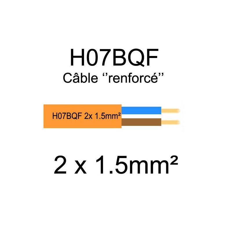 Câble électrique souple renforcé et sans halogène H07BQF