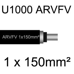 câble électrique armé aluminium ARVFV 1 conducteur 150mm²