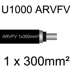 câble électrique armé aluminium ARVFV 1 conducteur 300mm²