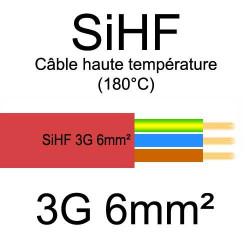 câble électrique cuivre souple isolé silicone SIHF 3 conducteurs 6mm²