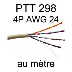câble téléphone intérieur PTT298 4 paires AWG24 5/10 vendu à la coupe au mètre