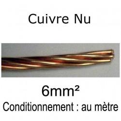 câble tresse cuivre nu 6mm²