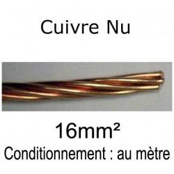 câble tresse cuivre nu 16mm²