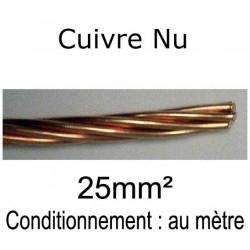 câble tresse cuivre nu 25mm²