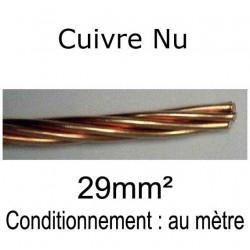 câble tresse cuivre nu 29mm²