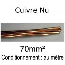 câble tresse cuivre nu 70mm²