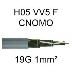 câble cuivre souple H05VV5F CNOMO 19 conducteurs 1mm²