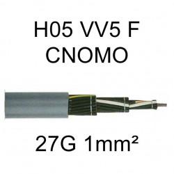 câble cuivre souple H05VV5F CNOMO 27 conducteurs 1mm²