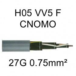câble cuivre souple H05VV5F CNOMO 27 conducteurs 0.75mm²