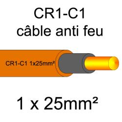 câble électrique résistant au feu CR1-C1 1x25mm²