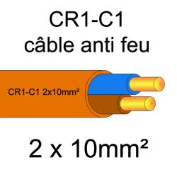 câble électrique résistant au feu CR1-C1 2x10mm²