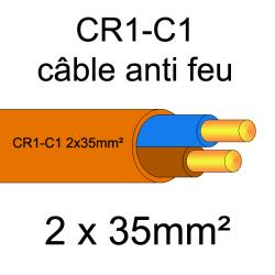 câble électrique résistant au feu CR1-C1 2x35mm²