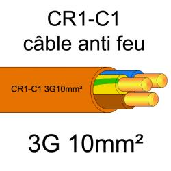 câble électrique résistant au feu CR1-C1 3G10mm²