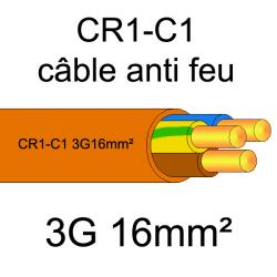 câble électrique résistant au feu CR1-C1 3G16mm²