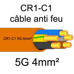 câble électrique résistant au feu CR1-C1 5G4mm²