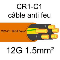 câble électrique résistant au feu CR1-C1 12G1.5mm²