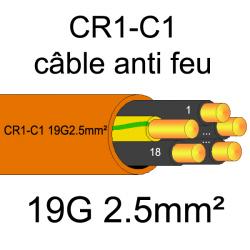 câble électrique résistant au feu CR1-C1 19G2.5mm²