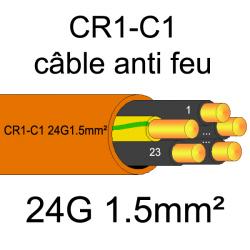 câble électrique résistant au feu CR1-C1 24G1.5mm²