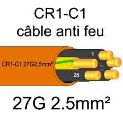 câble électrique résistant au feu CR1-C1 27G2.5mm²