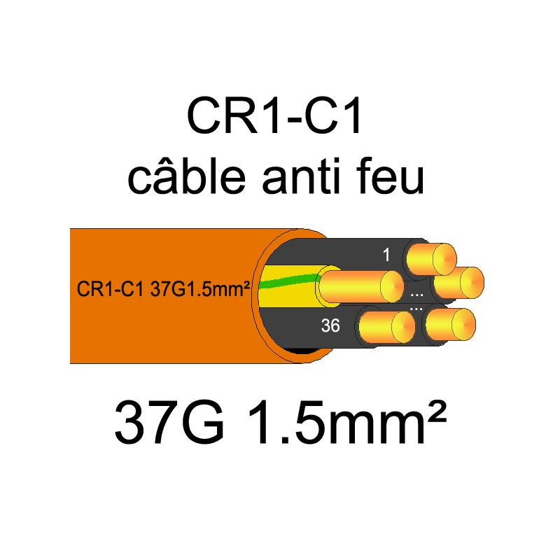 Câble électrique résistant au feu CR1-C1 | 1.5 à 50mm²