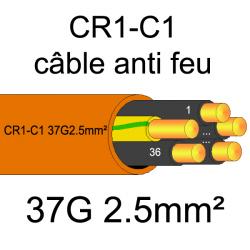 câble électrique résistant au feu CR1-C1 37G2.5mm²