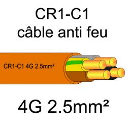 câble électrique résistant au feu CR1-C1 4G2.5mm²