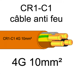 câble électrique résistant au feu CR1-C1 4G10mm²