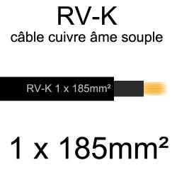 câble électrique âme cuivre souple série RV-K 1 conducteur 185mm²
