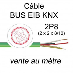 câble spécial bus de communication KNX EIB 2 paires 8/10 vendu au mètre à la coupe