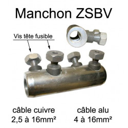 Manchon de raccordement pour prolongation de fil et câble électrique de section 2,5mm² à 16mm²