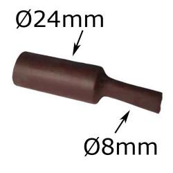 gaine thermorétractable diamètre 24mm marron