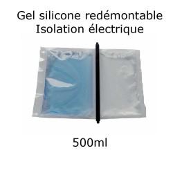pochette de gel silicone étanche bi composant 500ml