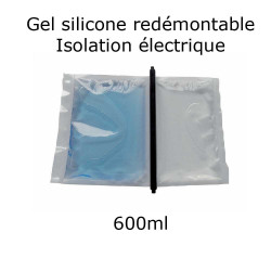 pochette de gel silicone étanche bi composant 600ml