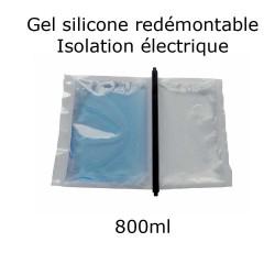 pochette de gel silicone étanche bi composant 800ml