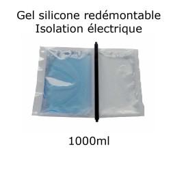 pochette de gel silicone étanche bi composant 1000ml