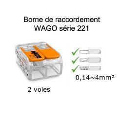 wago 2 voies référence 221-412