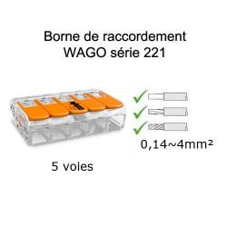wago 5 voies référence 221-415