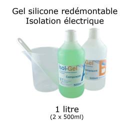 bidon de gel silicone étanche bi composant 1 litre
